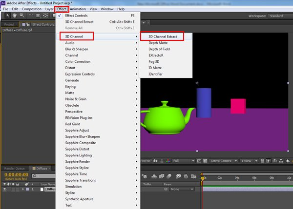 Effect  3D Channel  3D Channel Extract
