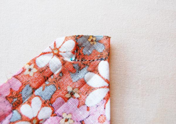 Mitered corner stitch
