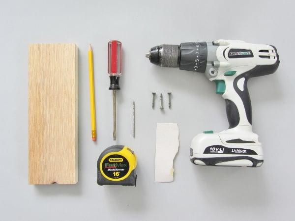 Supplies for building hexagonal shelf