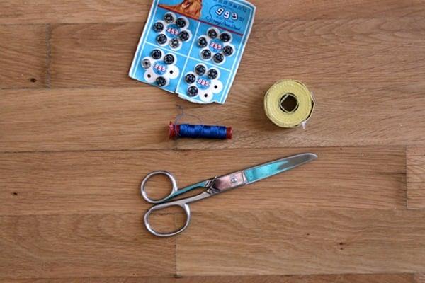 Shibori Envelope Clutch supplies
