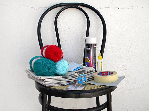 Chair makeover supplies