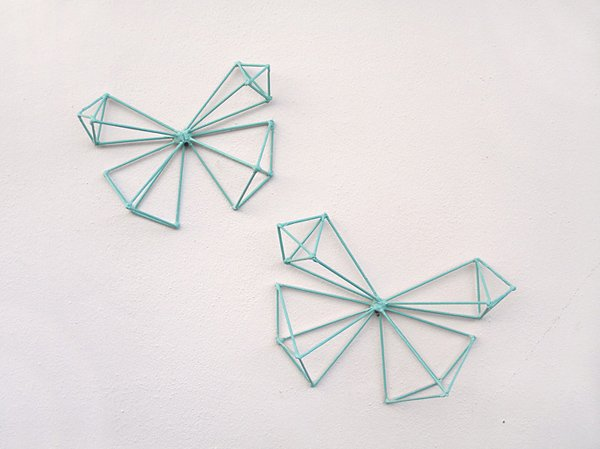 Butterfly himmeli decorations with chalk paint