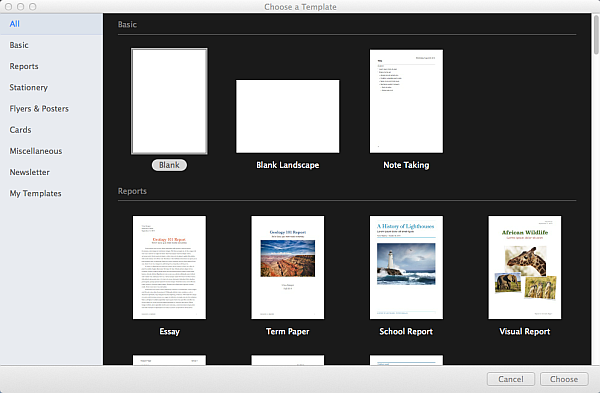 pages-template-chooser