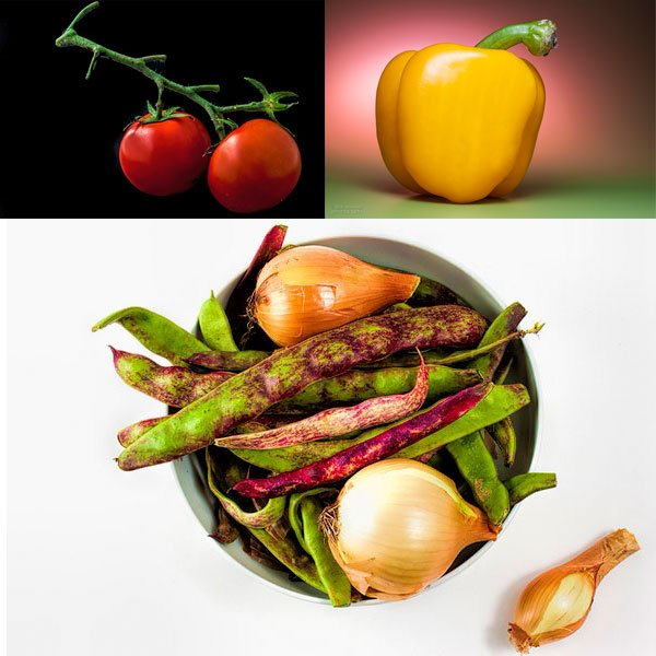 Vegetables and fruits make for some interesting subjects and can be photographed in different ways