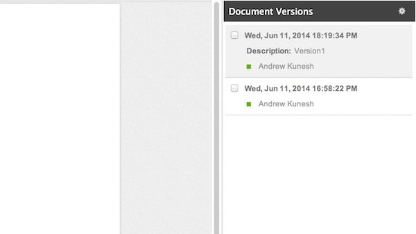 Viewing versions and revisions in Zoho Writer