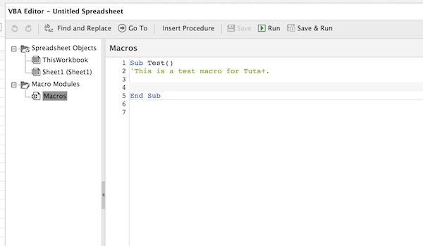 Programming a macro in Visual Basic