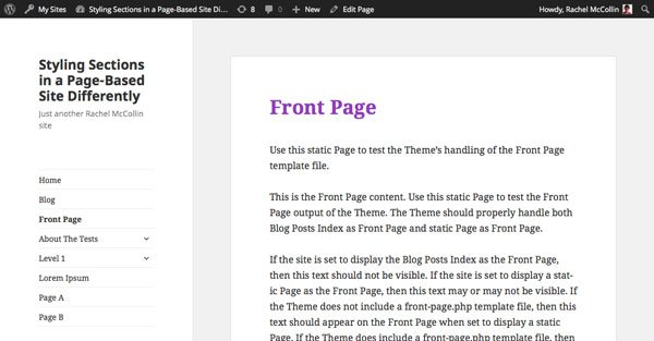 A page without a hierarchy