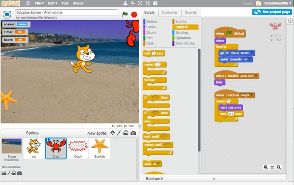 Adding Animation to the Crab Sprite