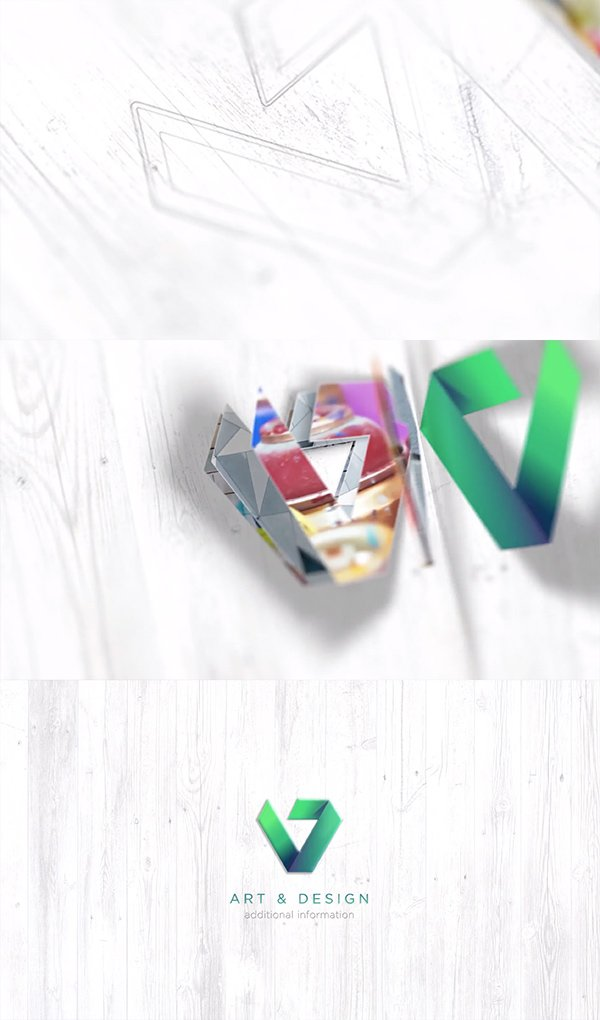 Drawing 3D - revelacion de logo dibujado en 3D de After Effects