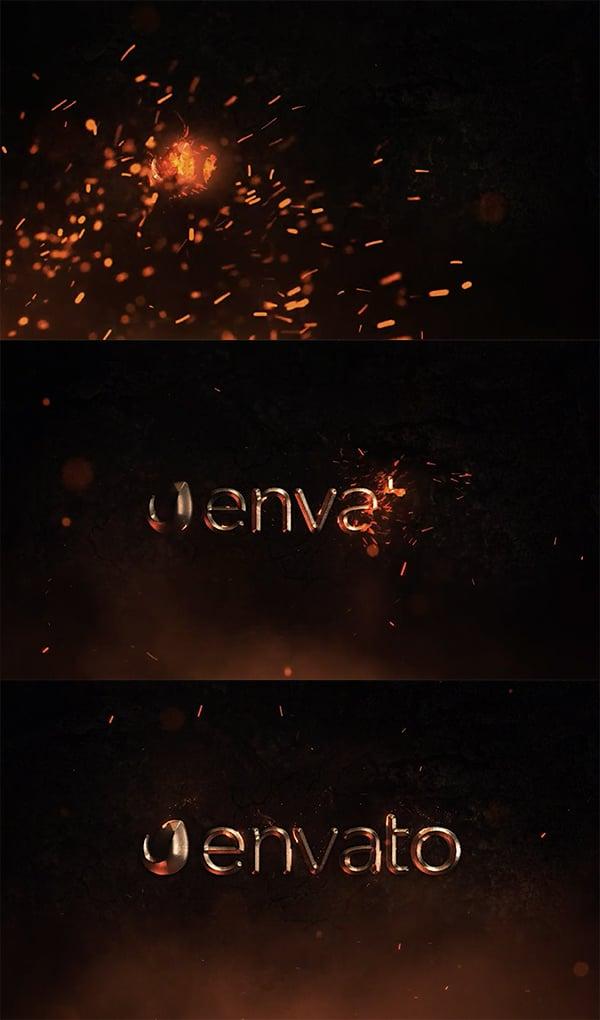 Epic Fire Logo Reveal - transicion de logotipo de After Effects