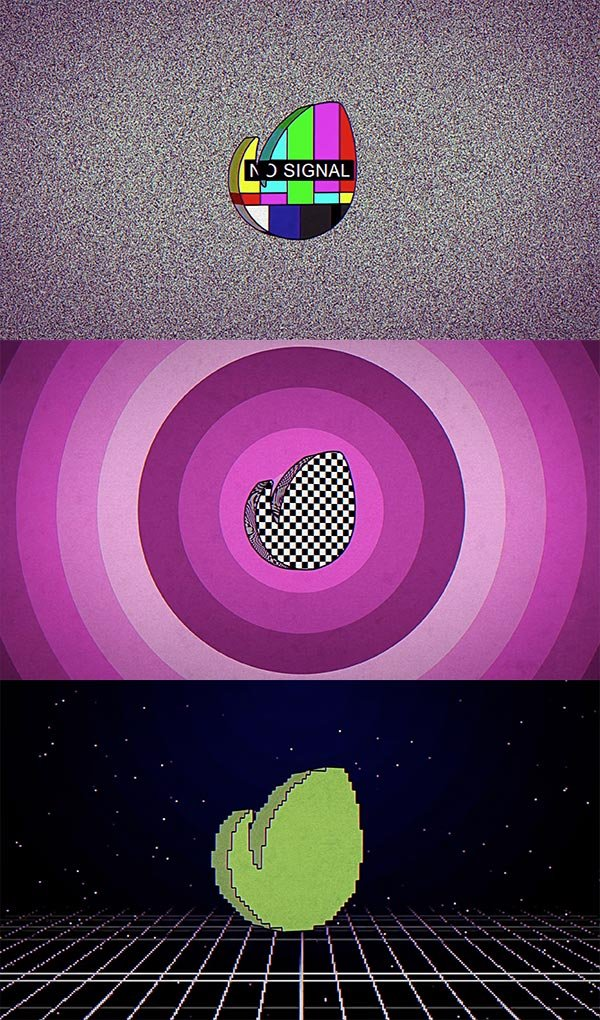 80s Retro TV - animacin de After Effects para logotipo