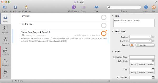 OmniFocus 2 for Mac