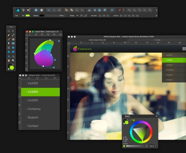 Affinity Designer Workspace