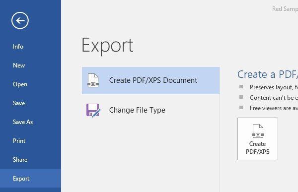 Export your Business Proposal Template as a PDF