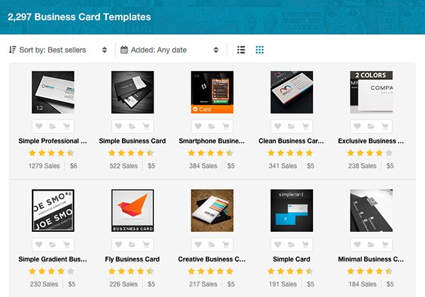 Business card template on GraphicRiver