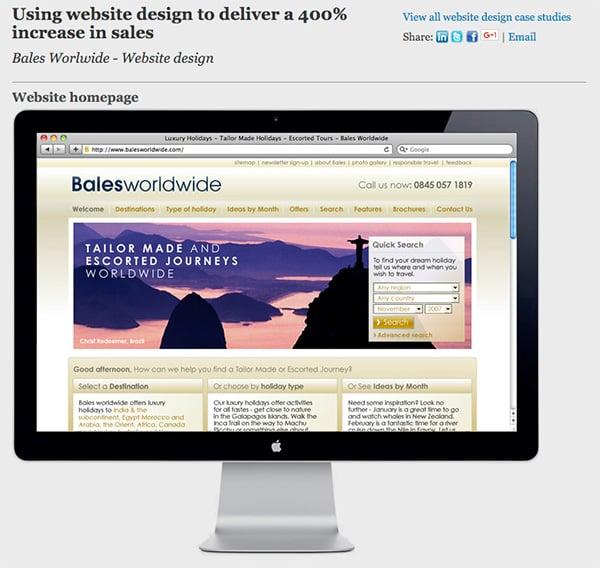 Web design case study