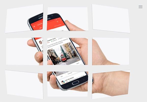 Interactive online cvresume website template
