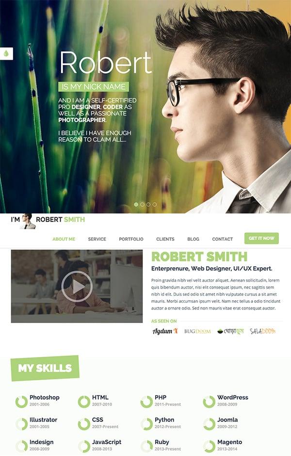 Responsive HTML5 Resume Template