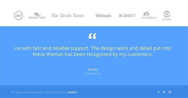 FLATPACK Landing Page theme builder