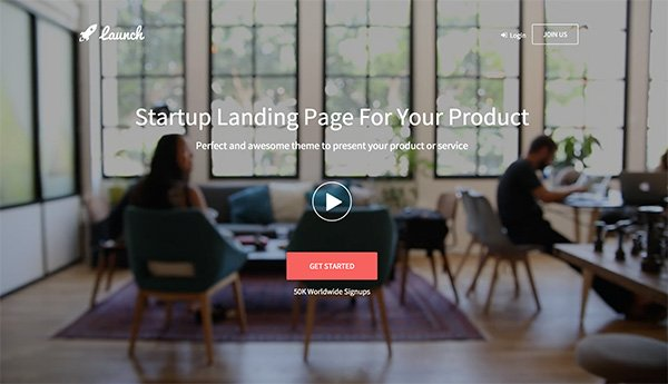 Launch - Startup Landing Page Theme