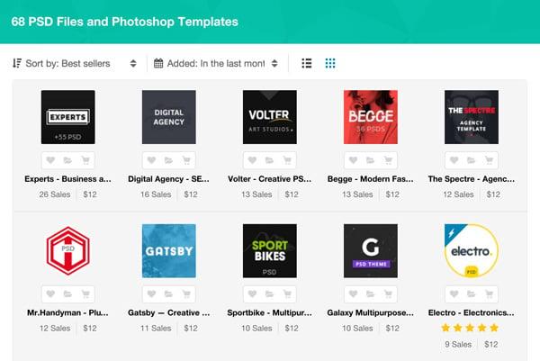 Best New PSD Template Files - Websites