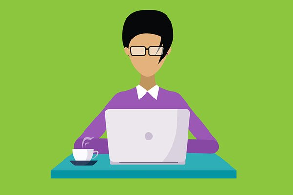 Work from home online illustration