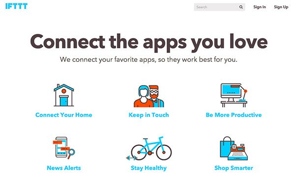 IFTTT Best productivity apps