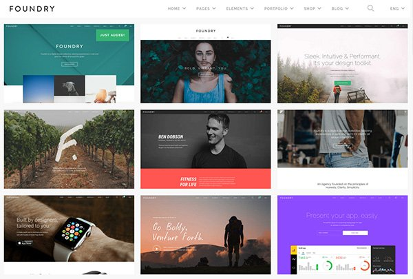 Foundry website template