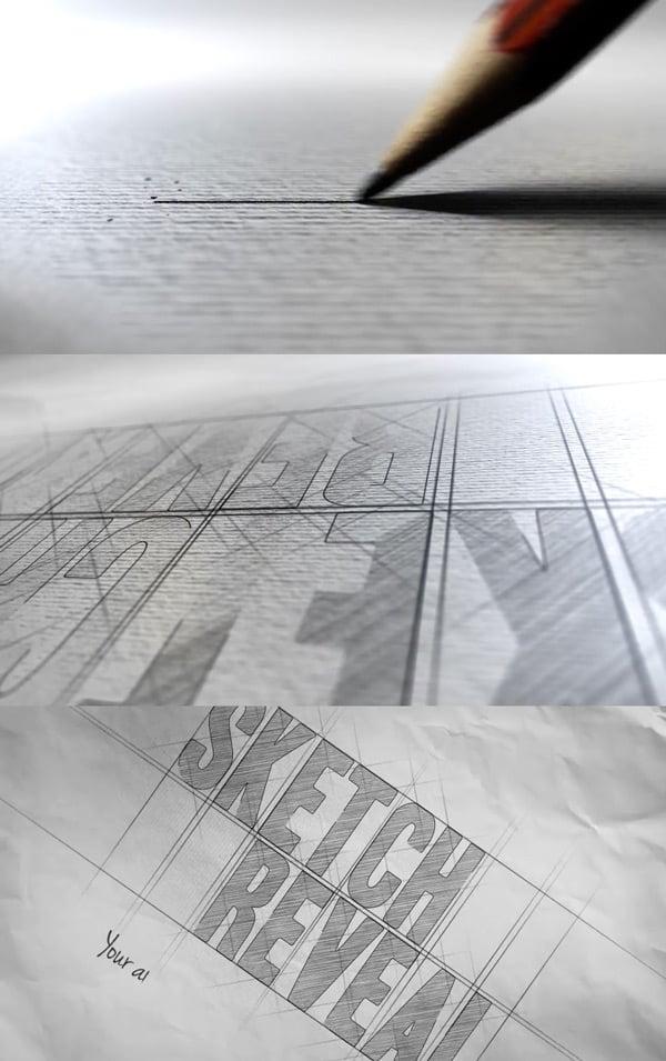 Sketch Animated Logo Reveal AE
