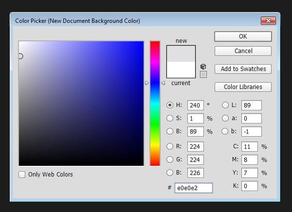 Preparing Canvas - Select background color