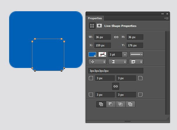 Designing Icon Base - Add another rounded rectangle