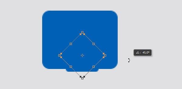 Designing Icon Base - Rotate shape 45