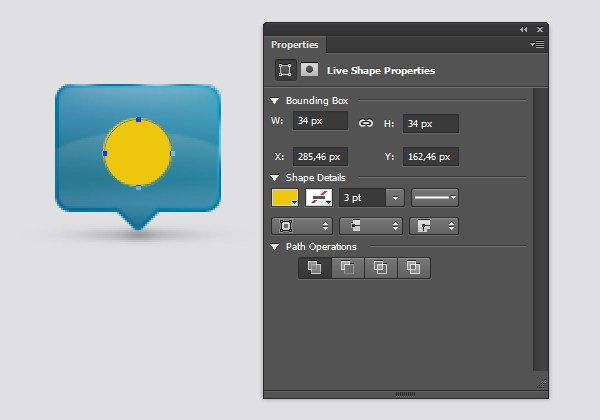Add Icon Sign - Draw a yellow circle