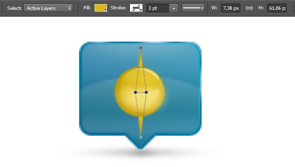 Add Icon Sign - Draw two yellow triangles