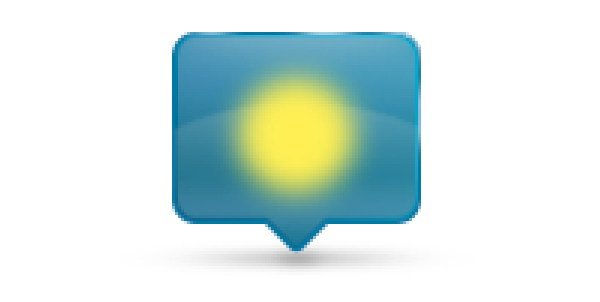Add Icon Sign - Paint blurry yellow shape