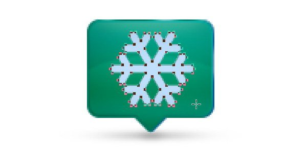 Add Icon Sign - Draw a snowflake