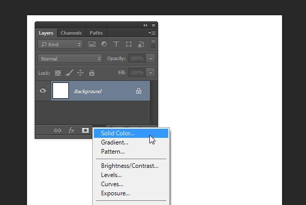 Add Adjustment Layer Solid Color