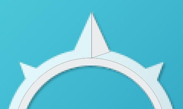 Add half triangle