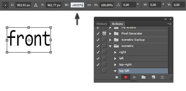 Resize objects width