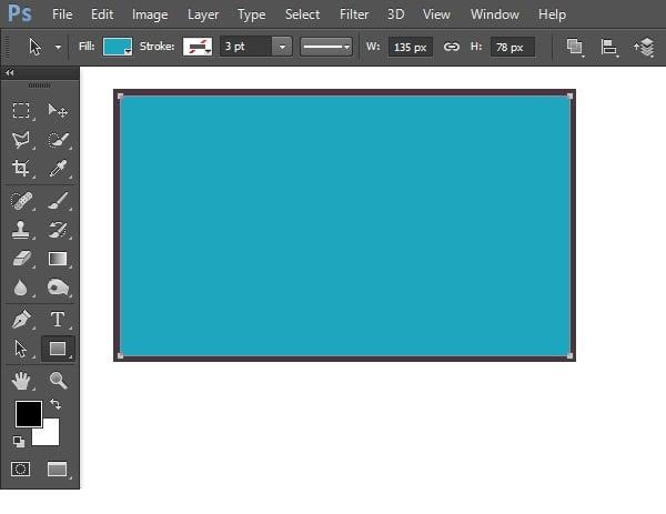Draw smaller rectangular shape