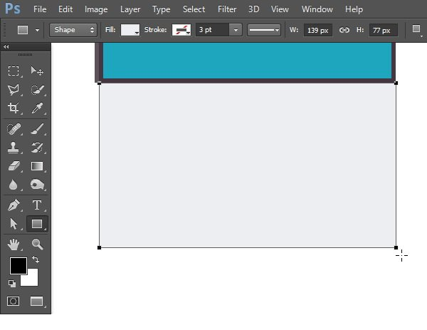 Draw another rectangular shape