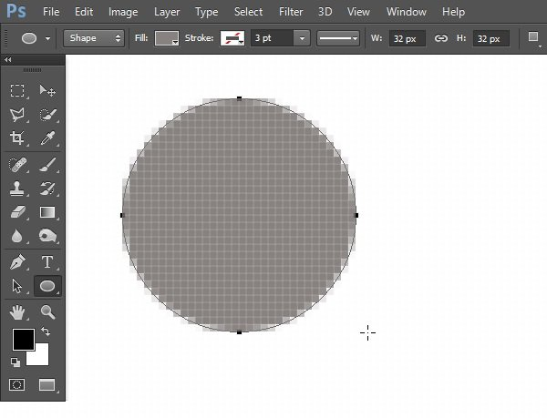 Draw a circle for CD