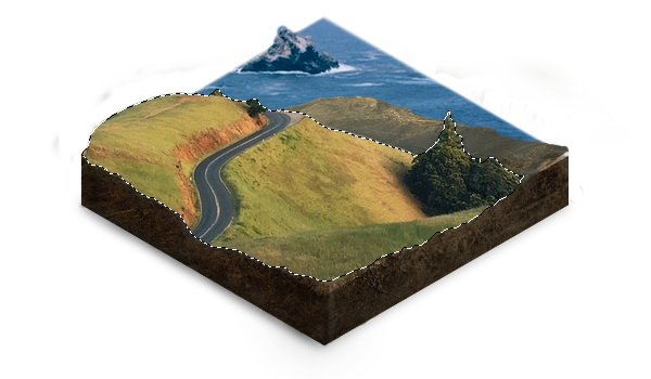 Add contrast to the landscape edges