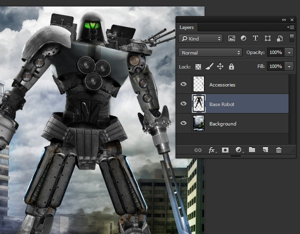 screenshot of starting file with an undamaged giant robot