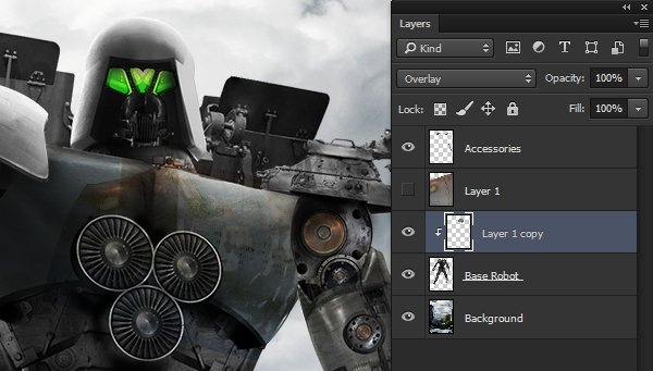 Clipping the texture to the robot layer