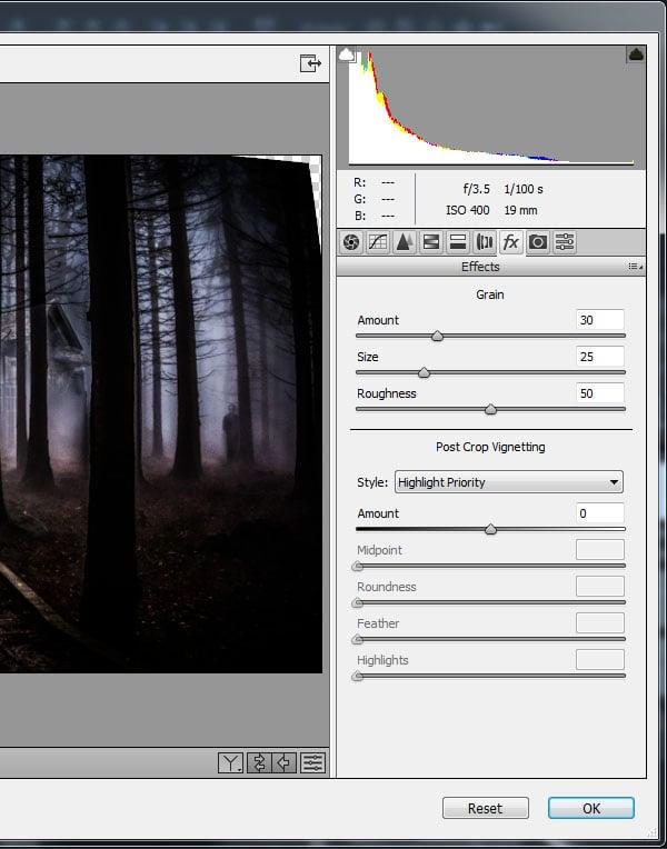 Add film grain effect