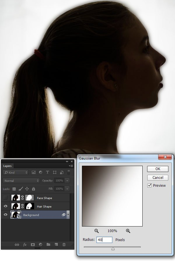 Use a Gaussian Blur on the background