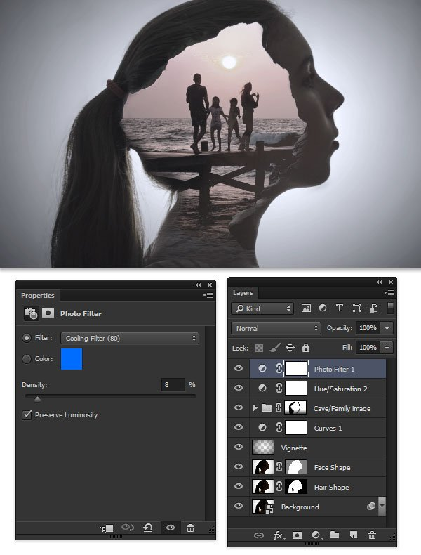 Adjust the image temp with a Photo Filter