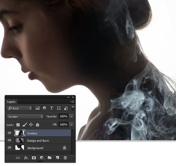 Layer in one of the smoke images