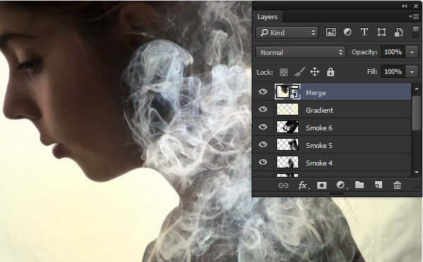 Create a merged layer and turn it into a Smart Object